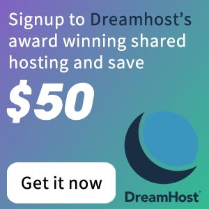 Dreamhost $50 off